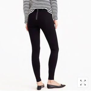 J crew black zipper leggings